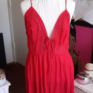 NWT Flowy Romantic Crochet Chic Dress - 0103